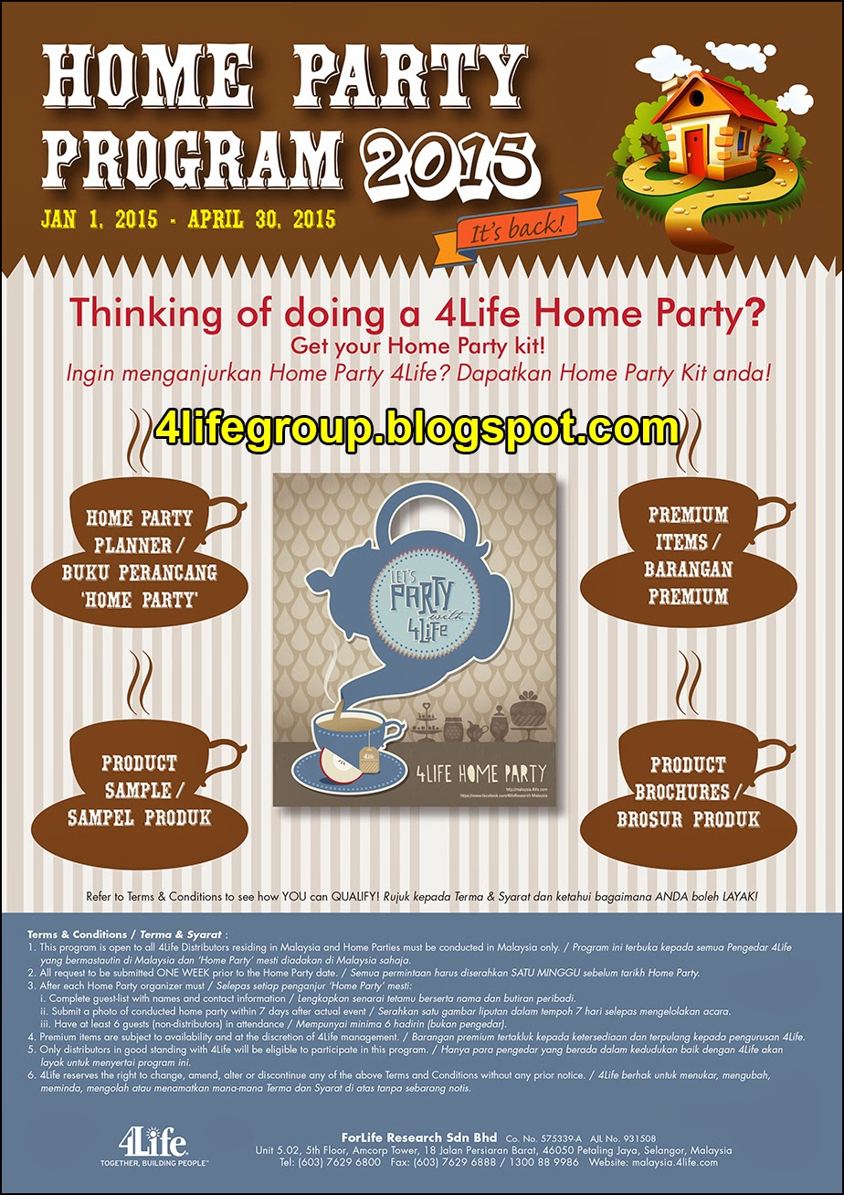 Home Party Program 2015 4life Malaysia 4life Transfer