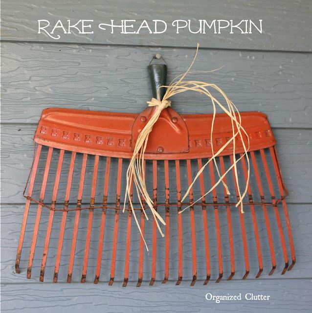 Rake Head Fall Junk Pumpkin www.organizedclutter.net
