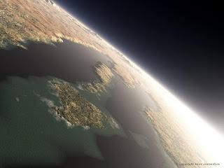 Море Гесперия; гесперийская эра.