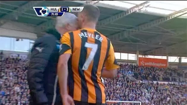 Newcastle Manager Alan Pardew, Hull player, Alan Pardew headbutt, David Meyler