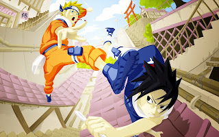 Naruto Uzumaki Sasuke Uchiha Anime Chain HD Wallpaper Desktop PC Background 1315