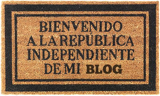 Bienvenido a la república independiente de mi blog