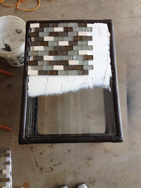 Trash To Treasure - DIY Outdoor Table Tiles