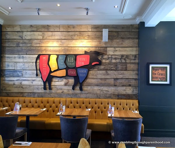Checking out the wall-art at Quay House Beefeater Grill and Restaurant