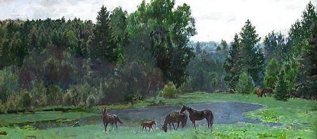 cuadro-paisaje-caballos