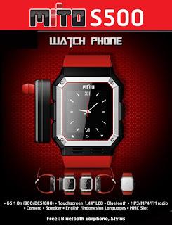 Mito S500 Mito S500 ( HP jam tangan ) Review harga dan spesifikasi