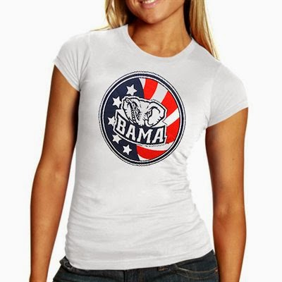 Alabama Crimson Tide NCAA Patriotic Women's Shirt