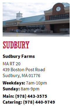 sudbury farms roche bros