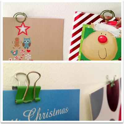 hang christmas cards, how christmas cards, card display