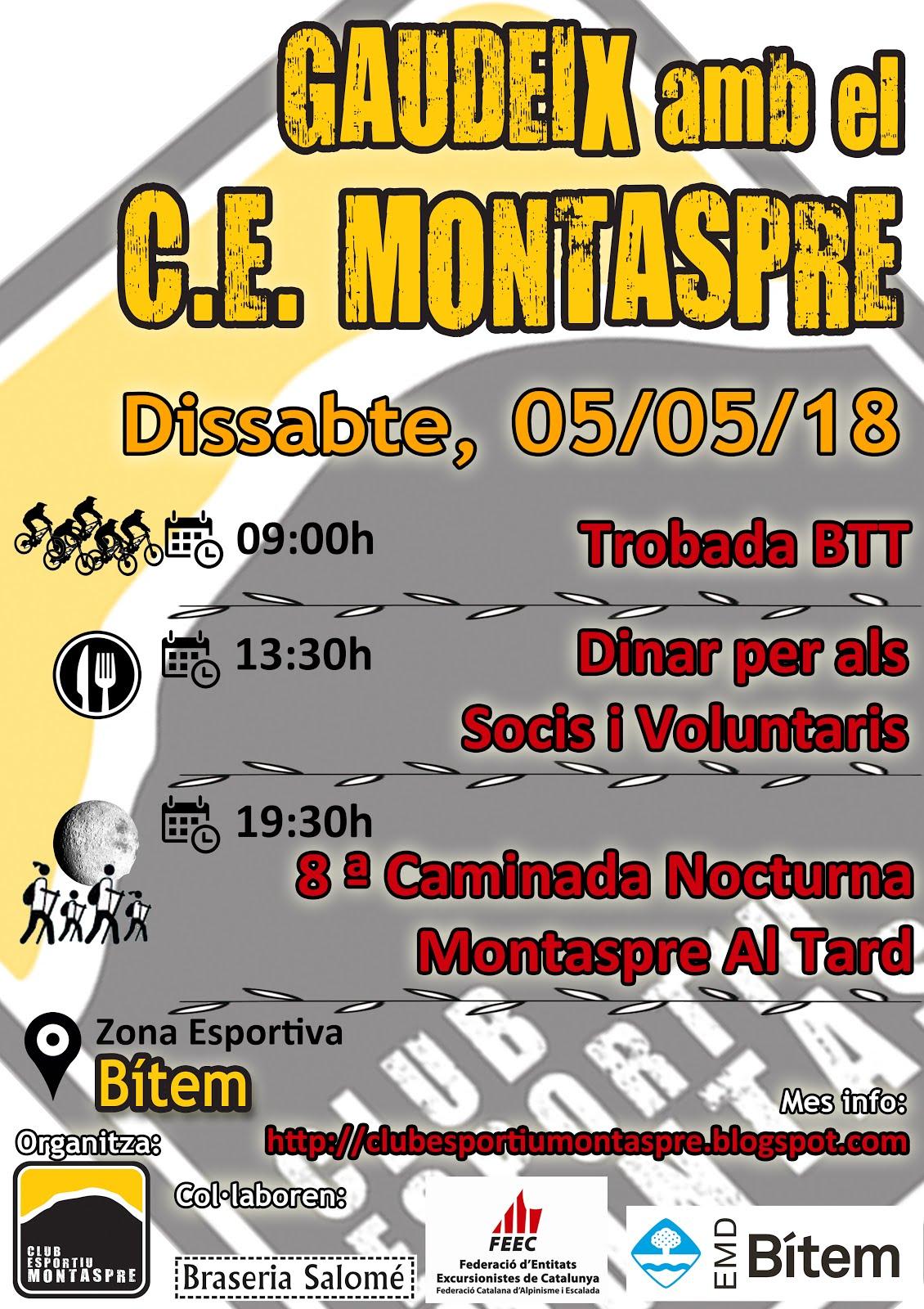 5 maig 2018 BTT + FESTA+MONTASPRE al TARD