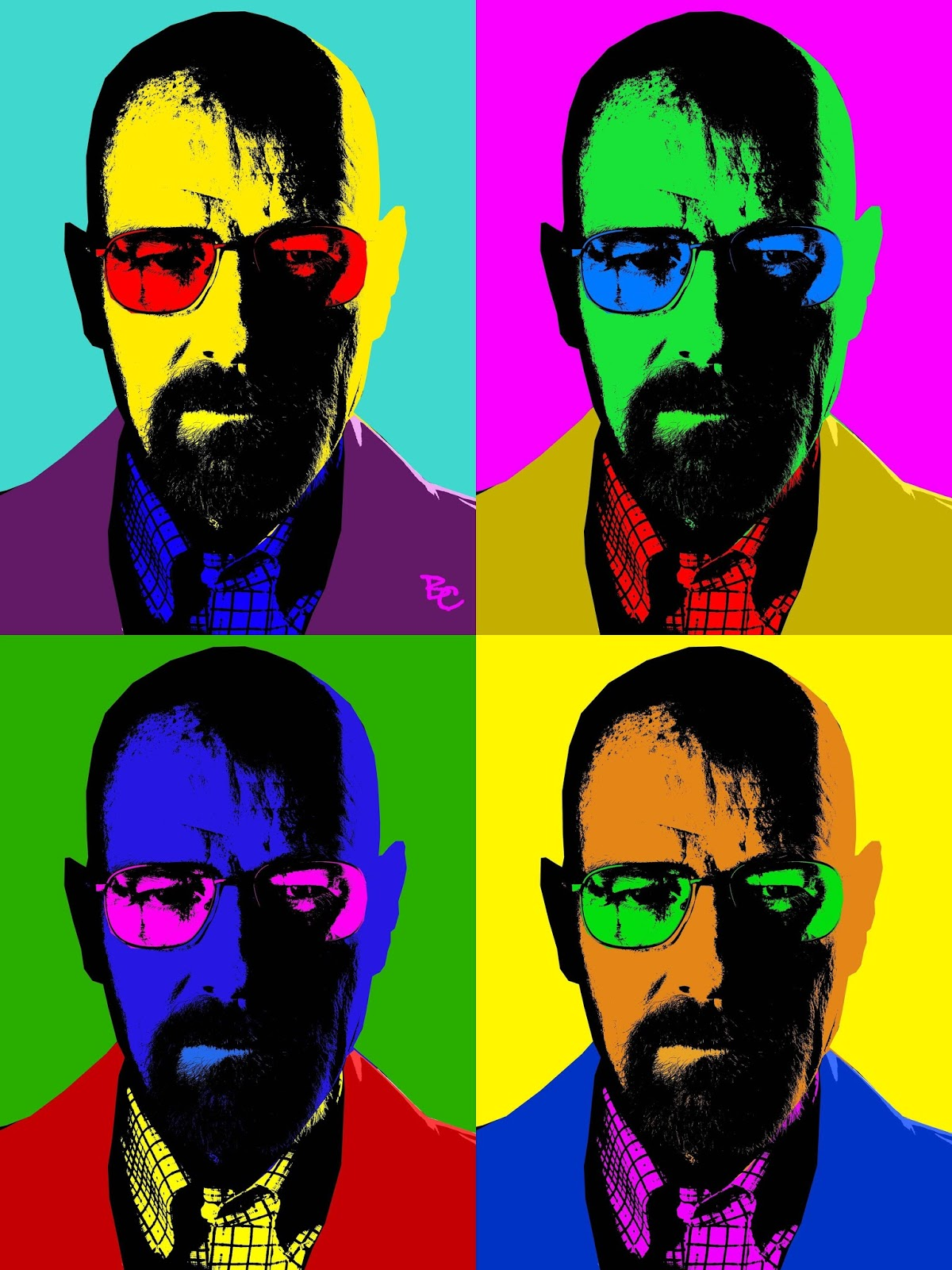 Digital Self Portrait Or Pop Art Portraits
