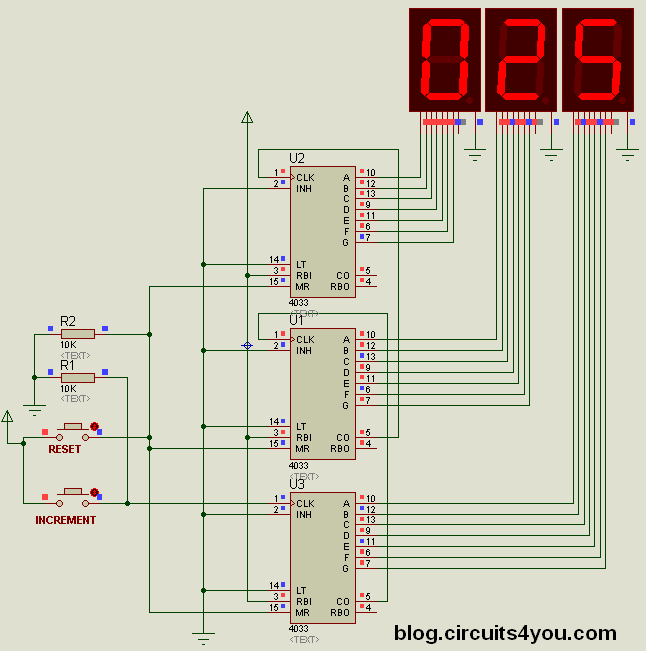 object counter circuit circuits4you com rh blog circuits4you com decade counter circuit diagram using 7490 counter circuit diagram