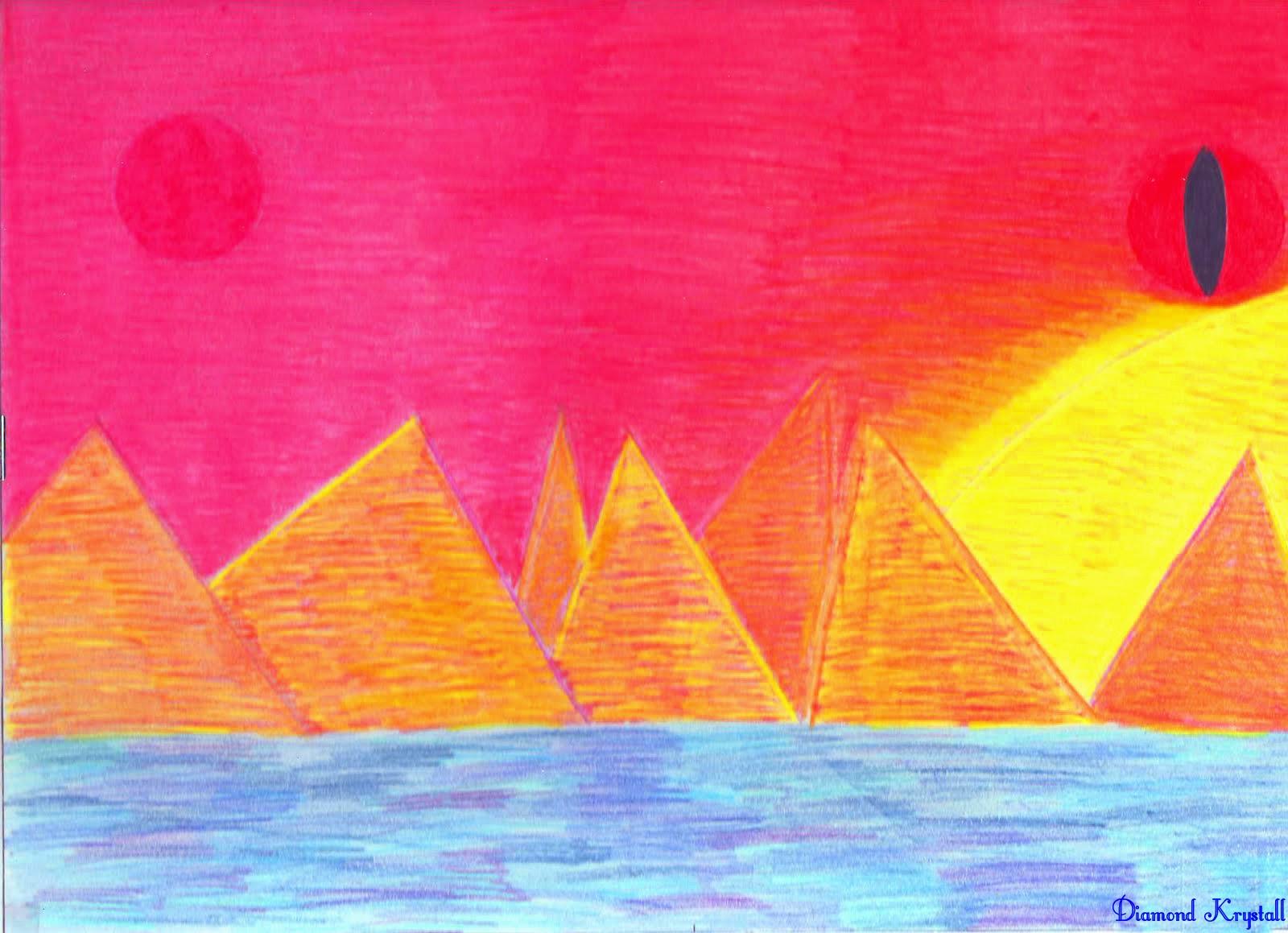 Tramonto sulle piramidi