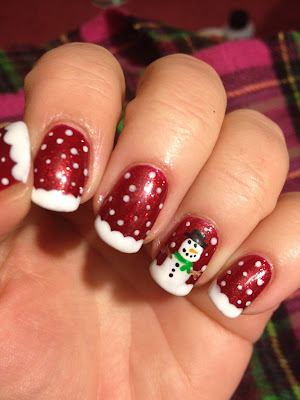 Christmas nail art ideas easy and simple design diet health this is very cute face of snowman nail art design prinsesfo Images