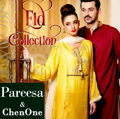 ChenOne - Pareesa Eid Collection 2014 | Ladies and Gents Eid Dresses