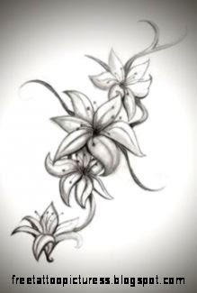 Lilies Tattoo on Pinterest  Flower Tattoos Flower Tattoo Designs