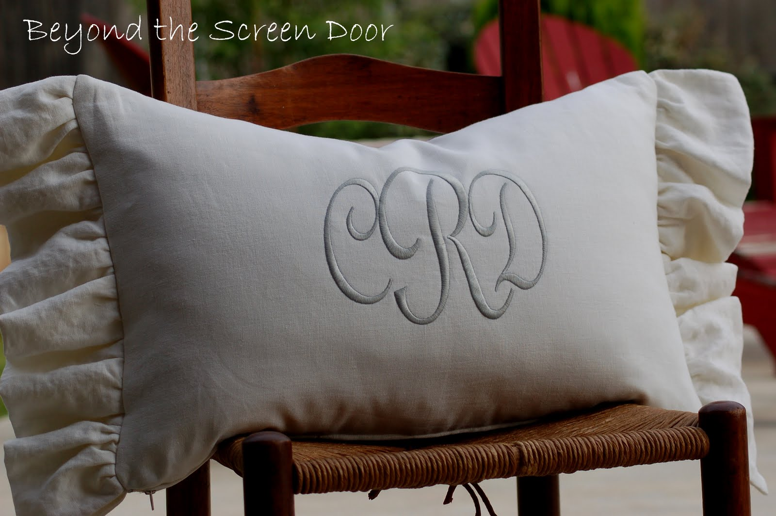 lumbar custom home mintwood monogrammed pillow products