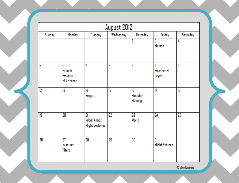 master cleaning schedule template .