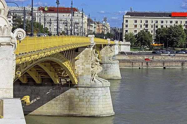 Buy canvas print of Margaret Bridge Budapest for beautiful wall art