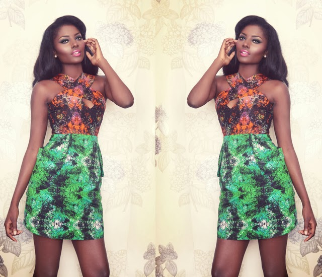 Flora-Fauna-Collection-African-print-fashion-designer-ghana-ciaafrique  - robe en pagne africain