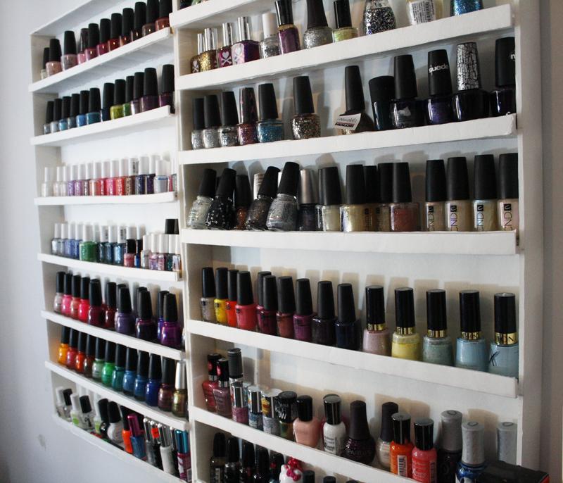 Jude makeup defi du lundi rangement vernis - Etagere murale pour vernis a ongle ...