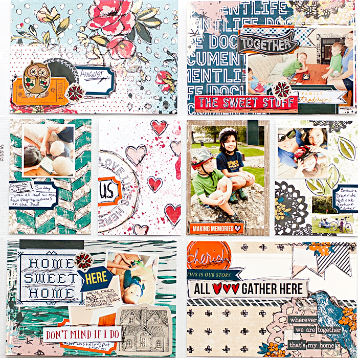 Heather Greenwood Designs | Week 35 in my weekly pocket scrapbook Project Life® Design A album