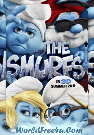 Poster Of The Smurfs (2011) In Hindi English Dual Audio 300MB Compressed Small Size Pc Movie Free Download Only At worldfree4u.com