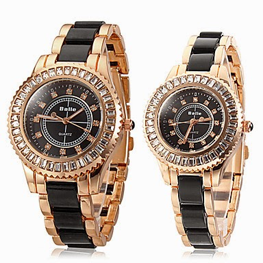 Reloj Caja de Diamante Banda de Cuarzo