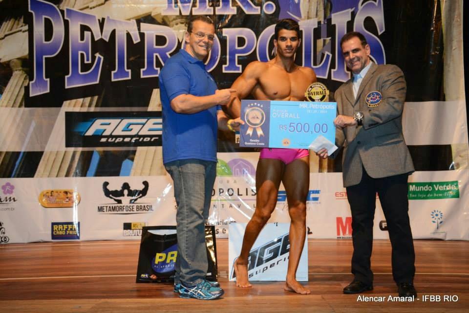 Pedro Lívio foi Campeão Overall Body Shape do Mr. Petrópolis 2014 Foto: Alencar Amaral