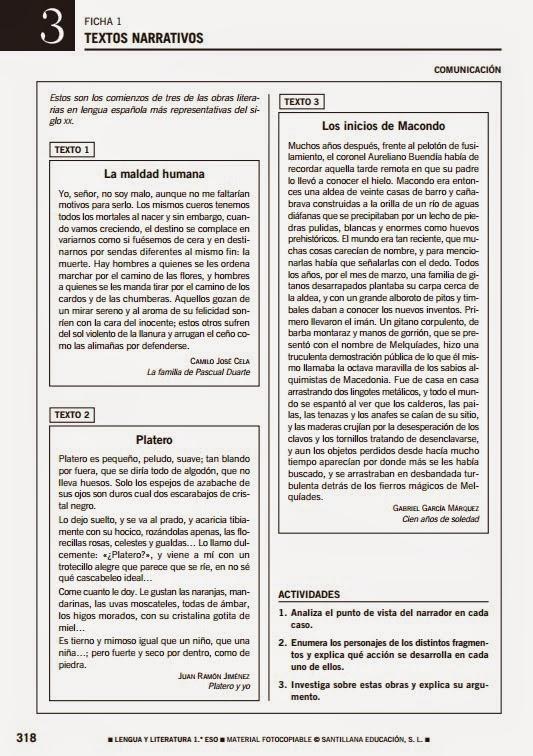 LENGUA Y LITERATURA 1º ESO RECURSOS COMPLEMENTARIOS