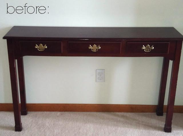 a console table facelift via housebyhoff.com