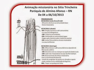 Animação Missionária no Sitio Trincheira