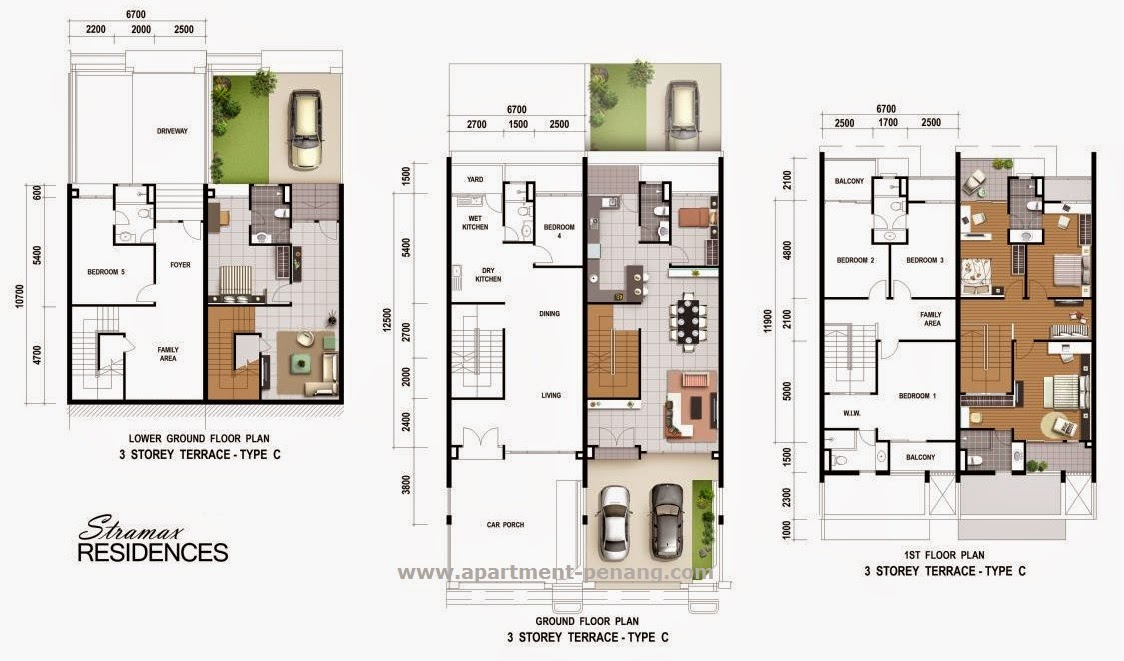 28 Three Story Condo Floor Plan Highland 3 Bedroom