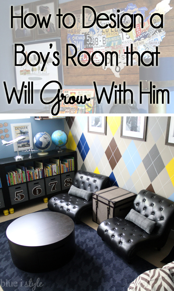 Decorating with style how to decorate a boy 39 s room that will grow with him blue i style How to design a room