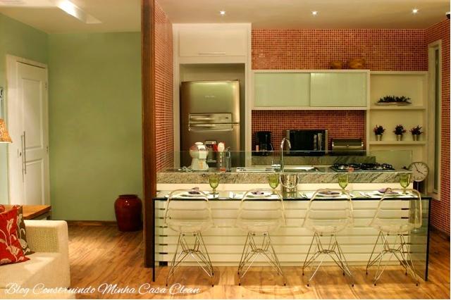 Construindo Minha Casa Clean 21 Cozinhas Americanas Modernas! Veja Modelos d # Bancada De Cozinha Revestimento