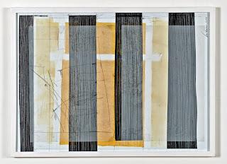 Kuno Lindenmann, O.T. KF/11-14-4, Zeichnung/Collage, 53 x 68 cm, 2014