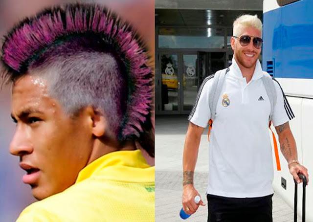 Neymar y Sergio Ramos pelo teñido