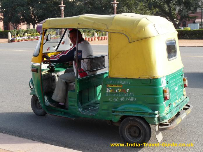 auto rickshaws line taxi