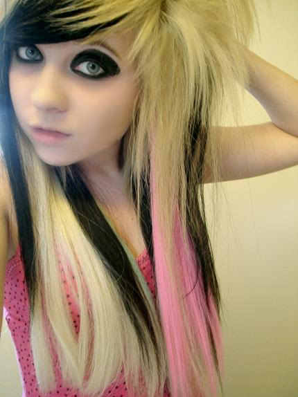 world style emo girl hairstyle