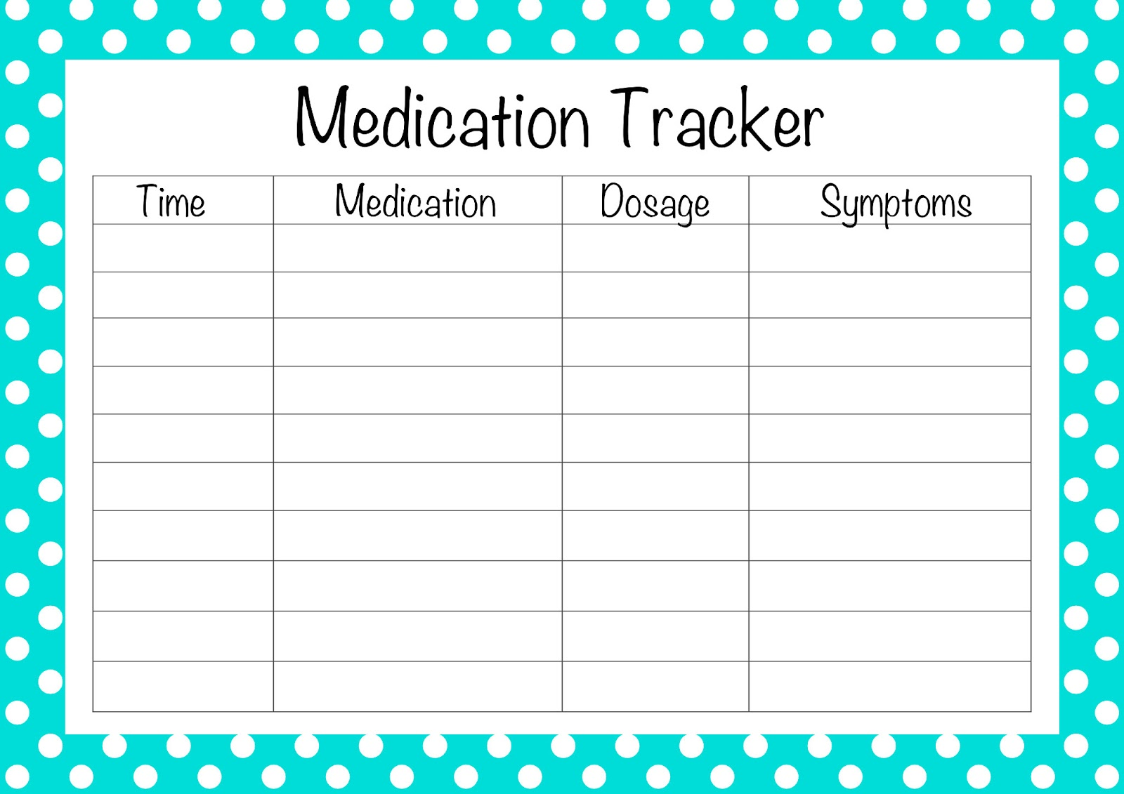 free printable medication list template the second printable is for