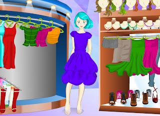 Juego de probar ropa en la tienda