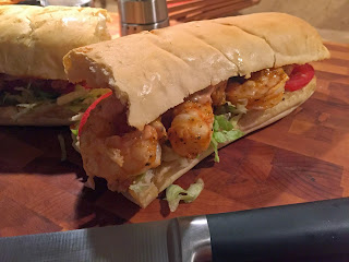 Grilled Shrimp Po Boy with Kickin' Po Boy Sauce from Soup Spice Everything Nice