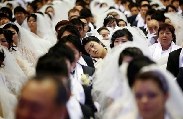 foto da noiva cochilando