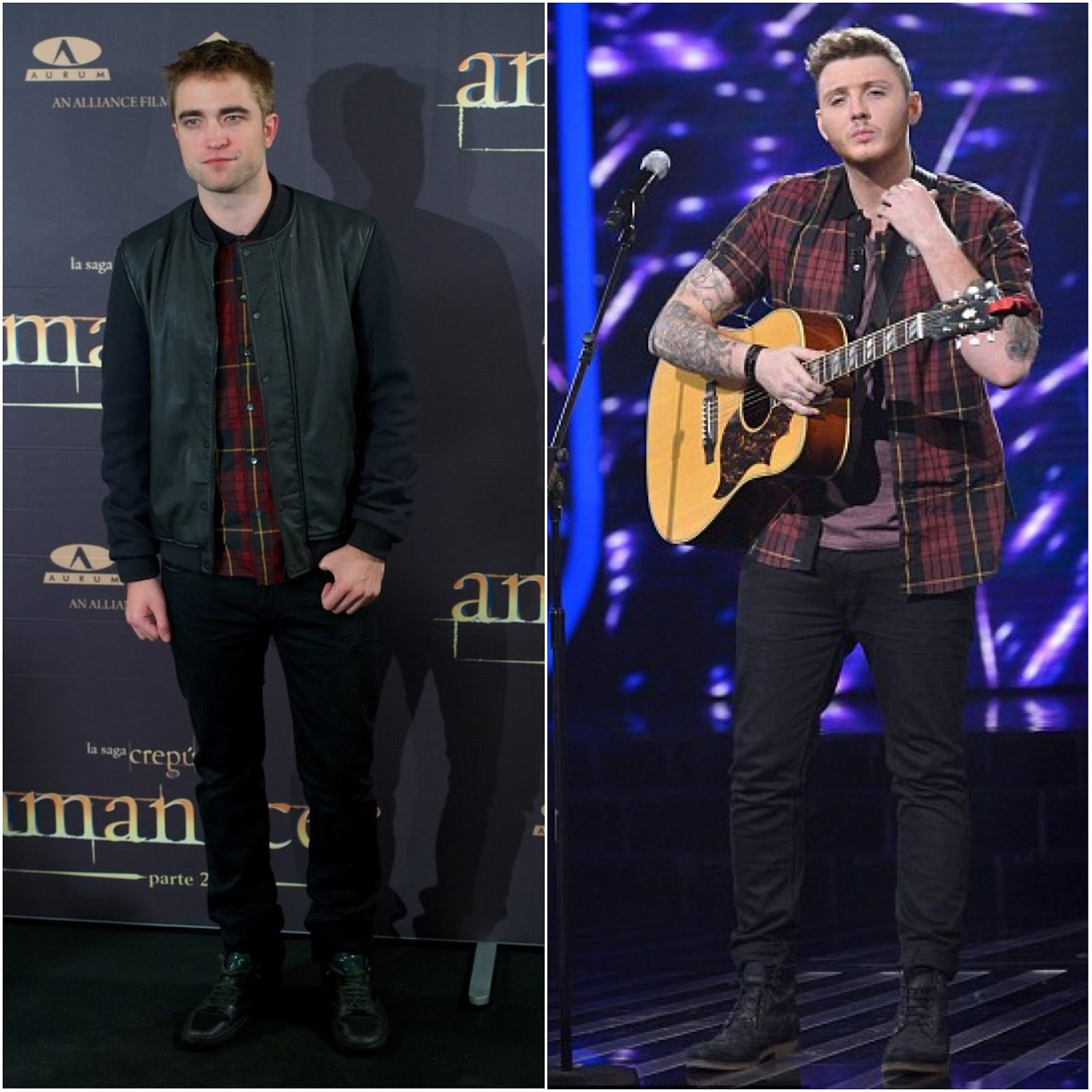 00O00 London Menswear Blog Celebrity Style Robert Pattinson James Arthur XFactor UK McQ Alexander McQueen Tartan shirt