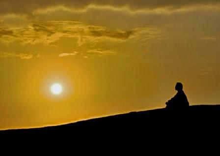 meditáció naplemente