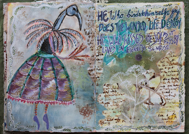 Galia Alena mixed media art journal