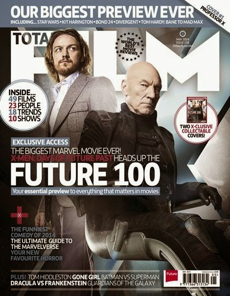 Xavier - Portada Total Films: X-Men: Días del Futuro Pasado