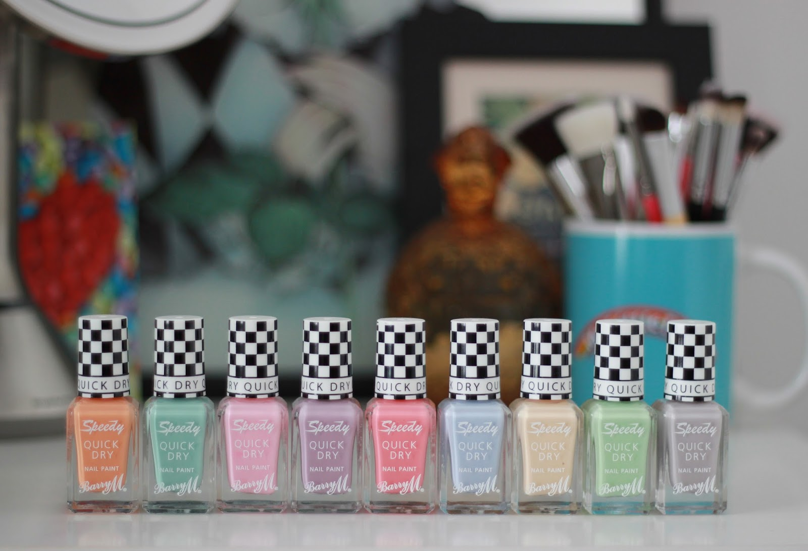 Barry M Speedy quick dry nail paint collection