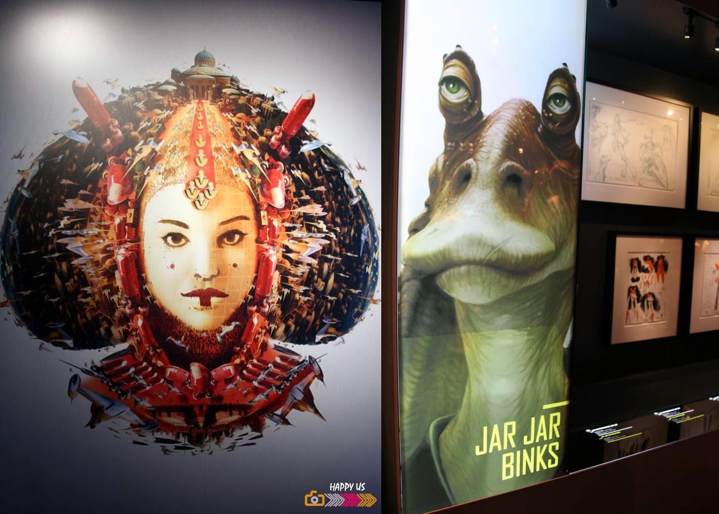Padmé et Jar Jar Binks