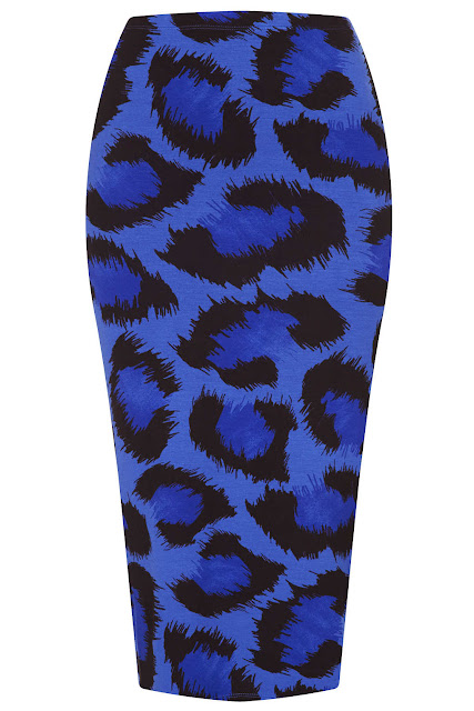 blue leopard skirt